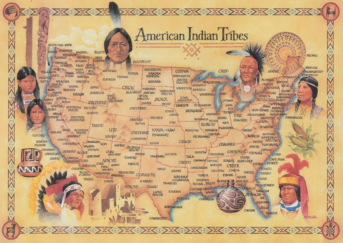 us map of the native american tribes native american