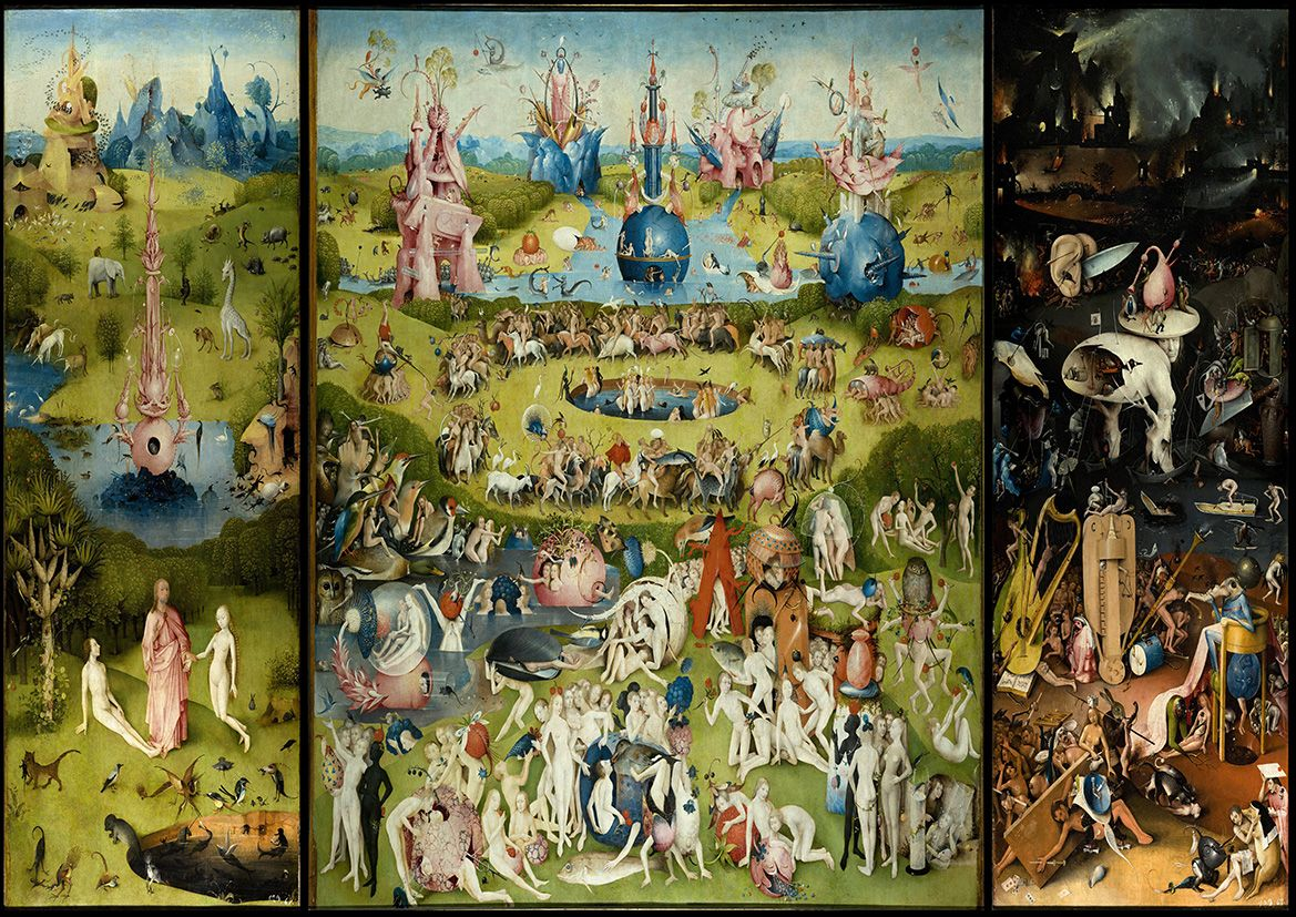 Bosch Hieronymus The Garden Of Earthly Delights Fine Art Print Poster Sizes A4 A3 A2 A1 00233
