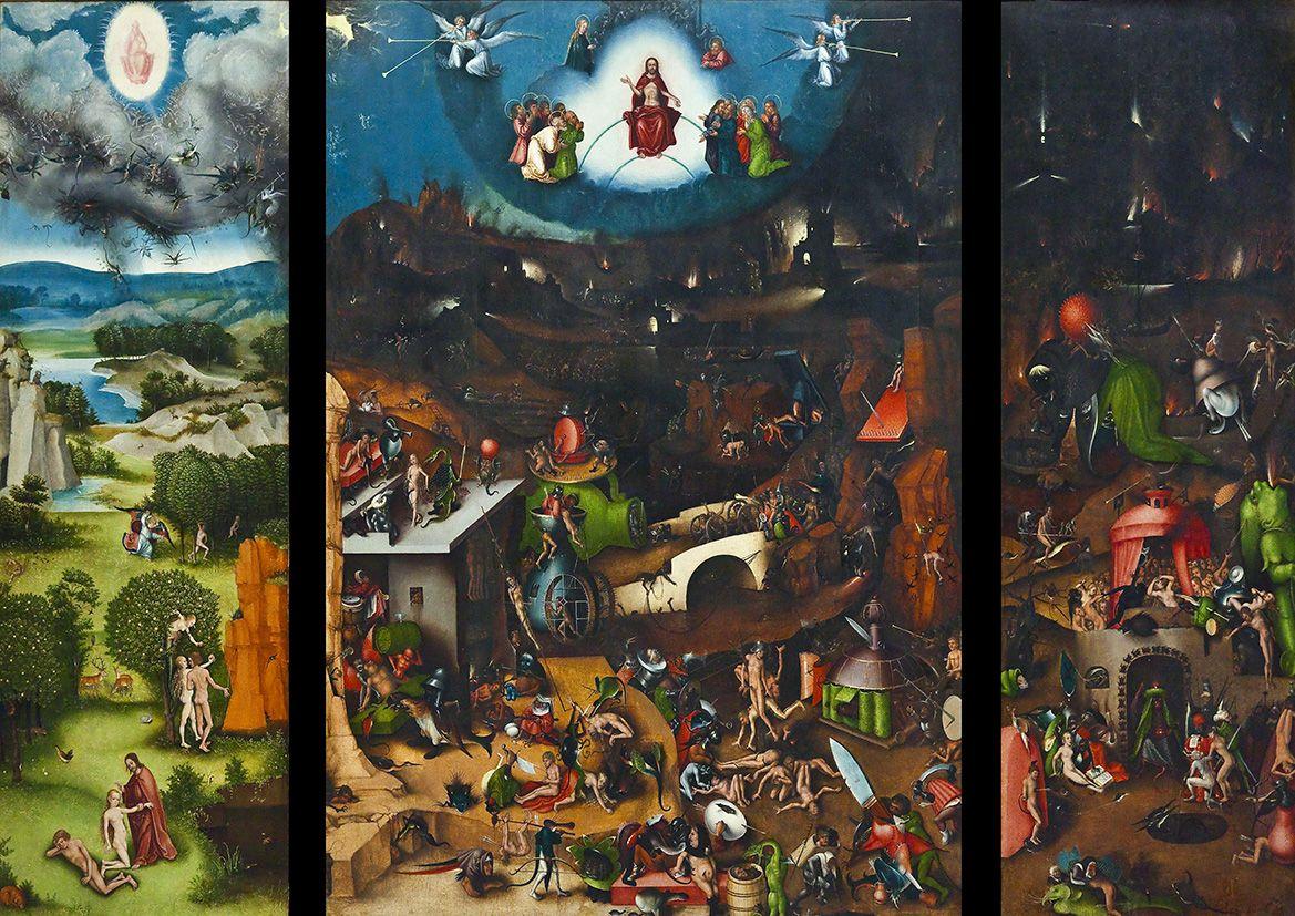 Bosch Hieronymus The Last Judgement. Religious Fine Art ...