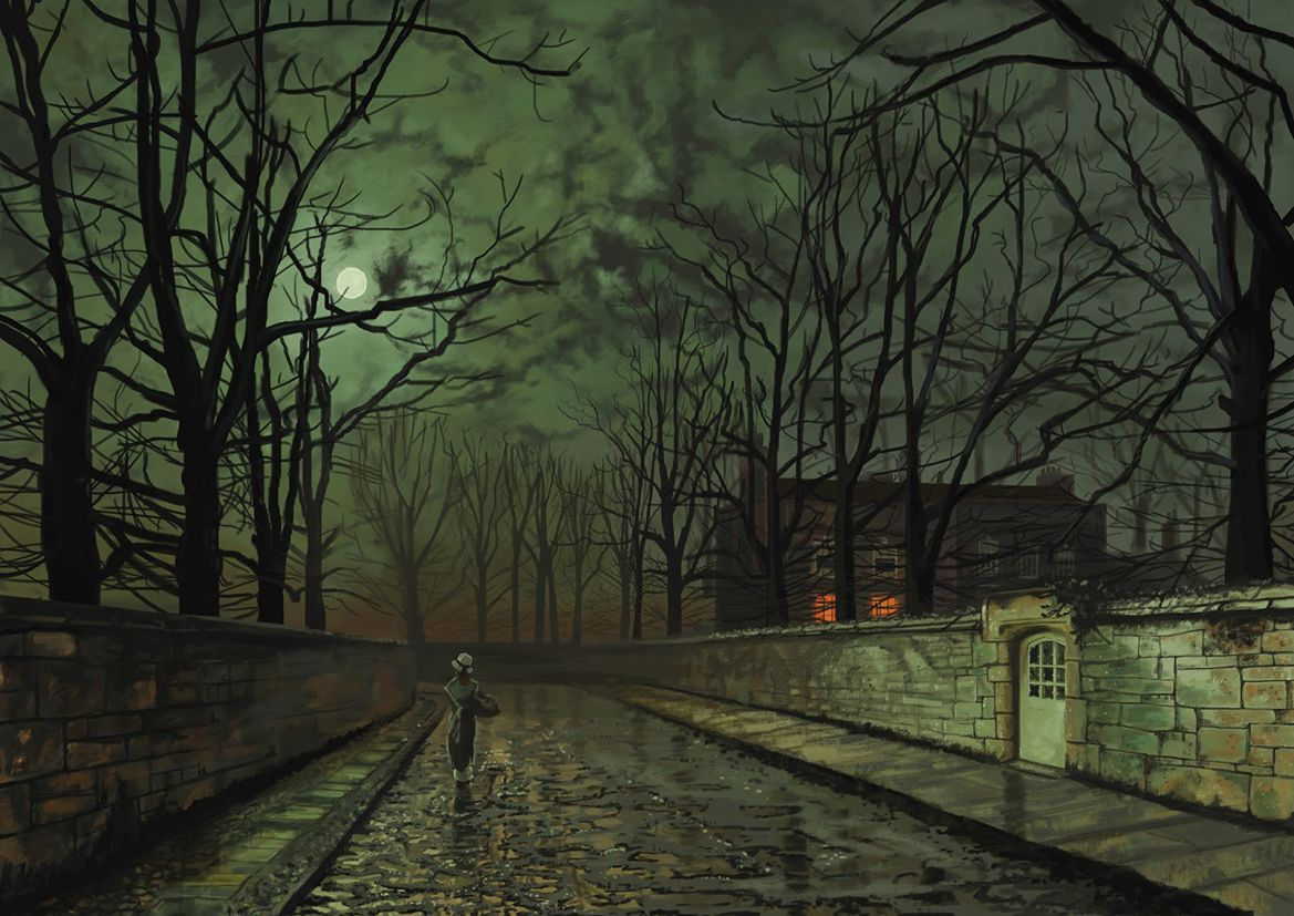 Grimshaw John A inson Silver Moonlight Fine Art Printposter Sizes A4a3a2a1 003230 6554 P on cars for transportation