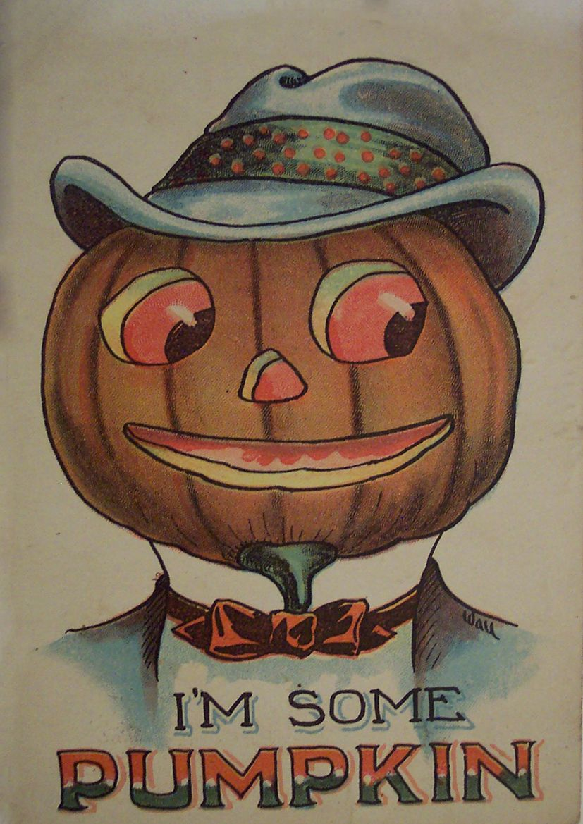 I m Some Pumpkin. Vintage Halloween Art Print Poster. Sizes A4 A3 ...