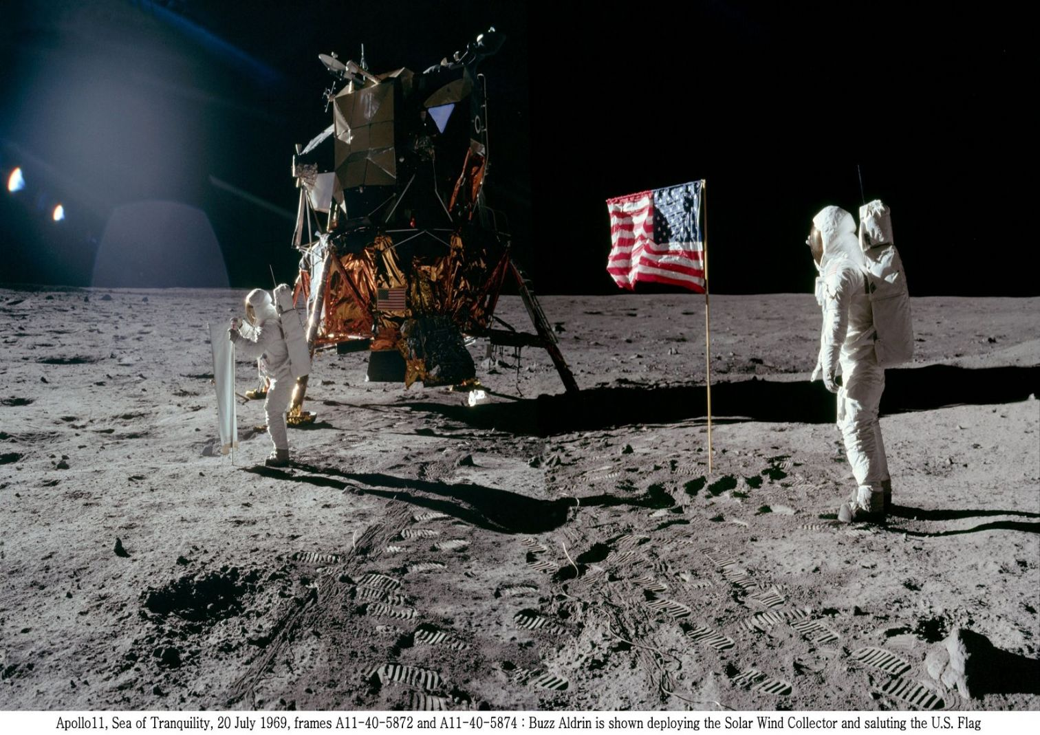 apollo 1969 You can tell apollo 11 was faked because the american flag appears to be flapping as if in a breeze in videos and photographs supposedly.
