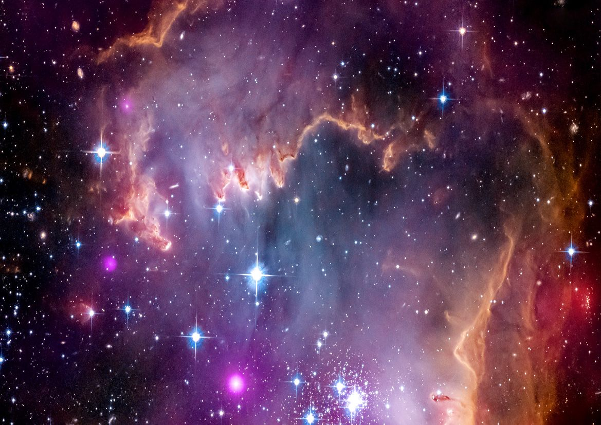 Small Magellanic Cloud Space Print Poster. Sizes A1 A2 A3