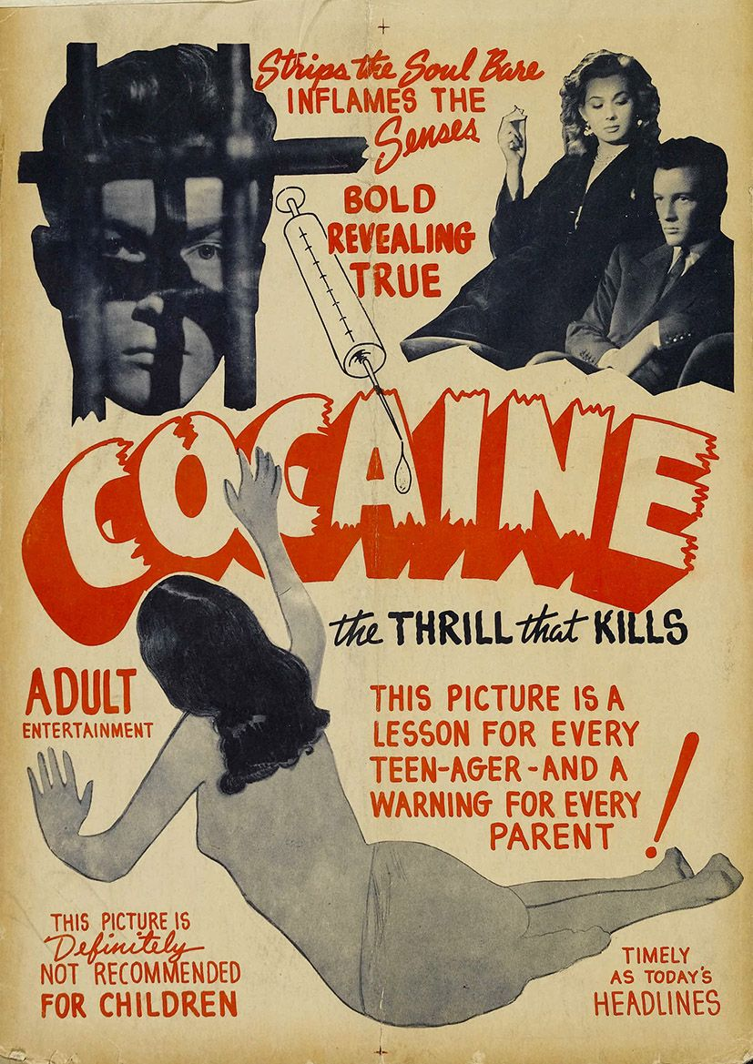 1950 s anti cocaine vintage advertising print poster