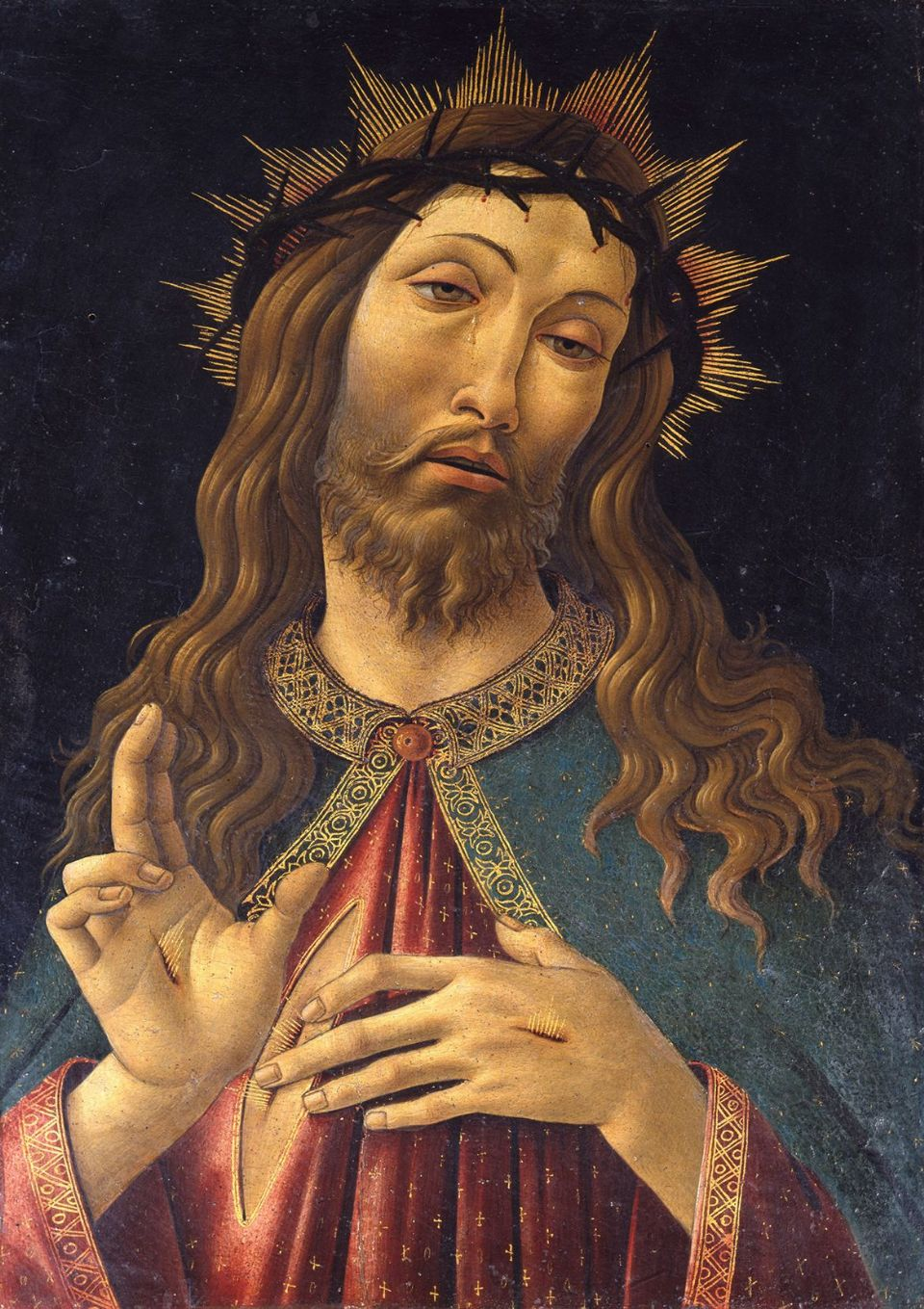 Botticelli, Sandro: Christ Crowned with Thorns. Fine Art Print/Poster. Sizes: A4/A3/A2/A1 (001882)