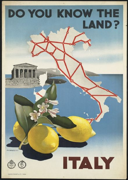 VINTAGE ROME ITALY ITALIAN TRAVEL A4 POSTER PRINT