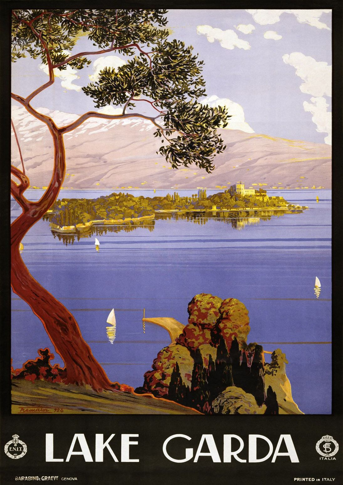 Vintage Italian Scenic Beautiful Travel Print Poster. Sizes A4 A3 A2 A1  003290