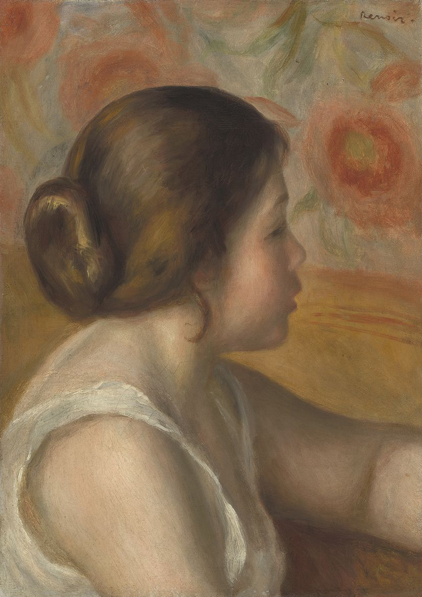 Renoir, Pierre Auguste: Head of a Young Girl. Fine Art Print/Poster. Sizes: A4/A3/A2/A1 (003958)