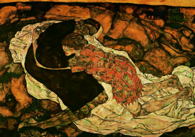 Schiele, Egon: Death and the Maiden. Fine Art Print/Poster. Sizes: A4/A3/A2/A1 (003226)