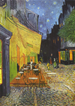 Van Gogh, Vincent: Cafe Terrace at Night. Fine Art Print/Poster. Sizes: A4/A3/A2/A1 (001)