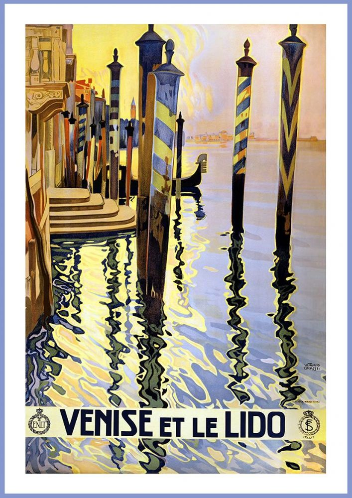 Vintage Summer Events in Berlin Italian Language Tourism Poster Print A3//A4