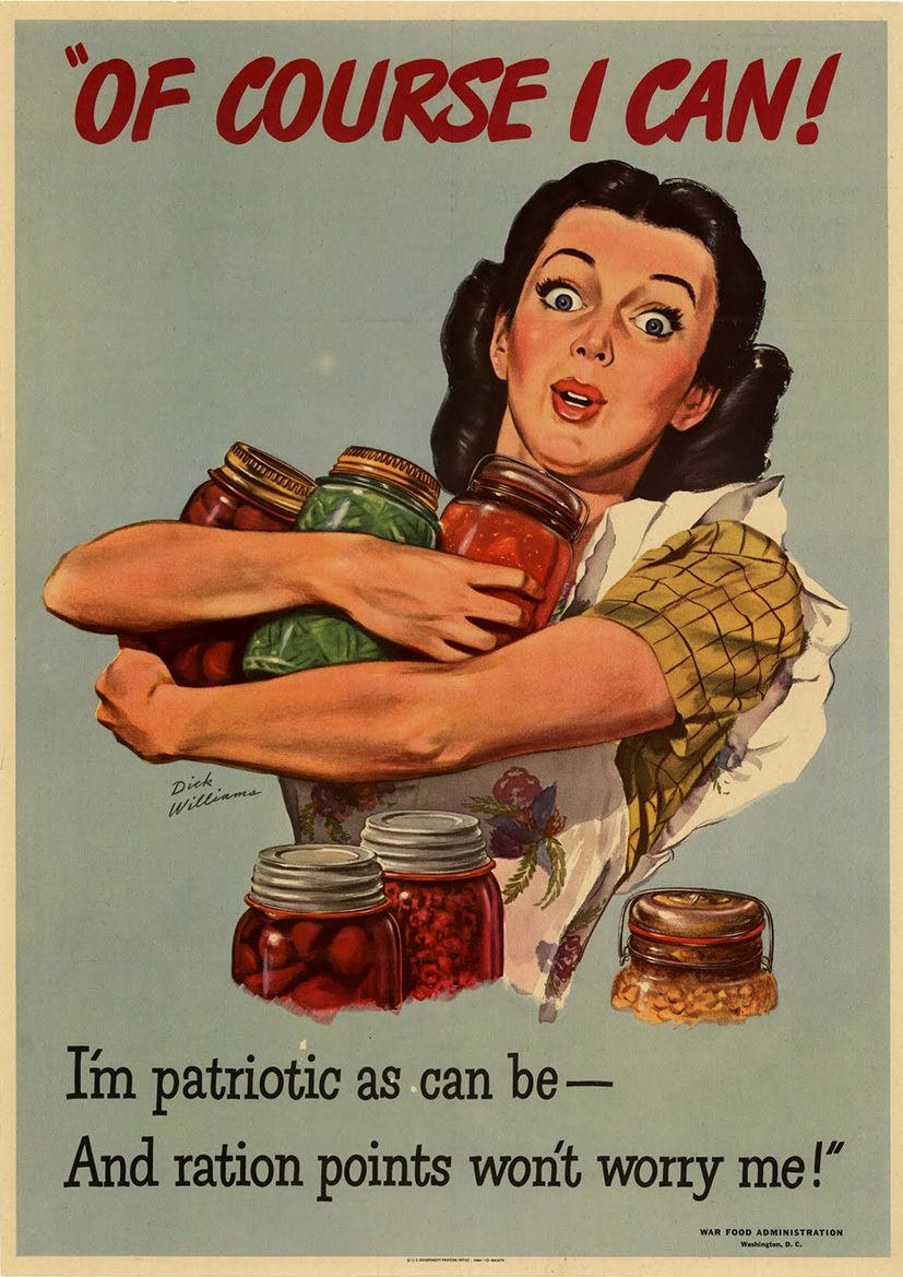 Wartime Food Rationing  Vintage World War 2 Print/Poster  Sizes:  A4/A3/A2/A1 (003110)