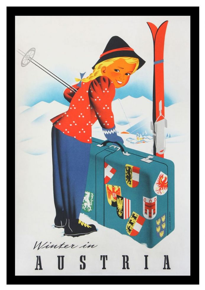 Vintage AUSTRIA Skiing//Travel Poster A1A2A3A4Sizes