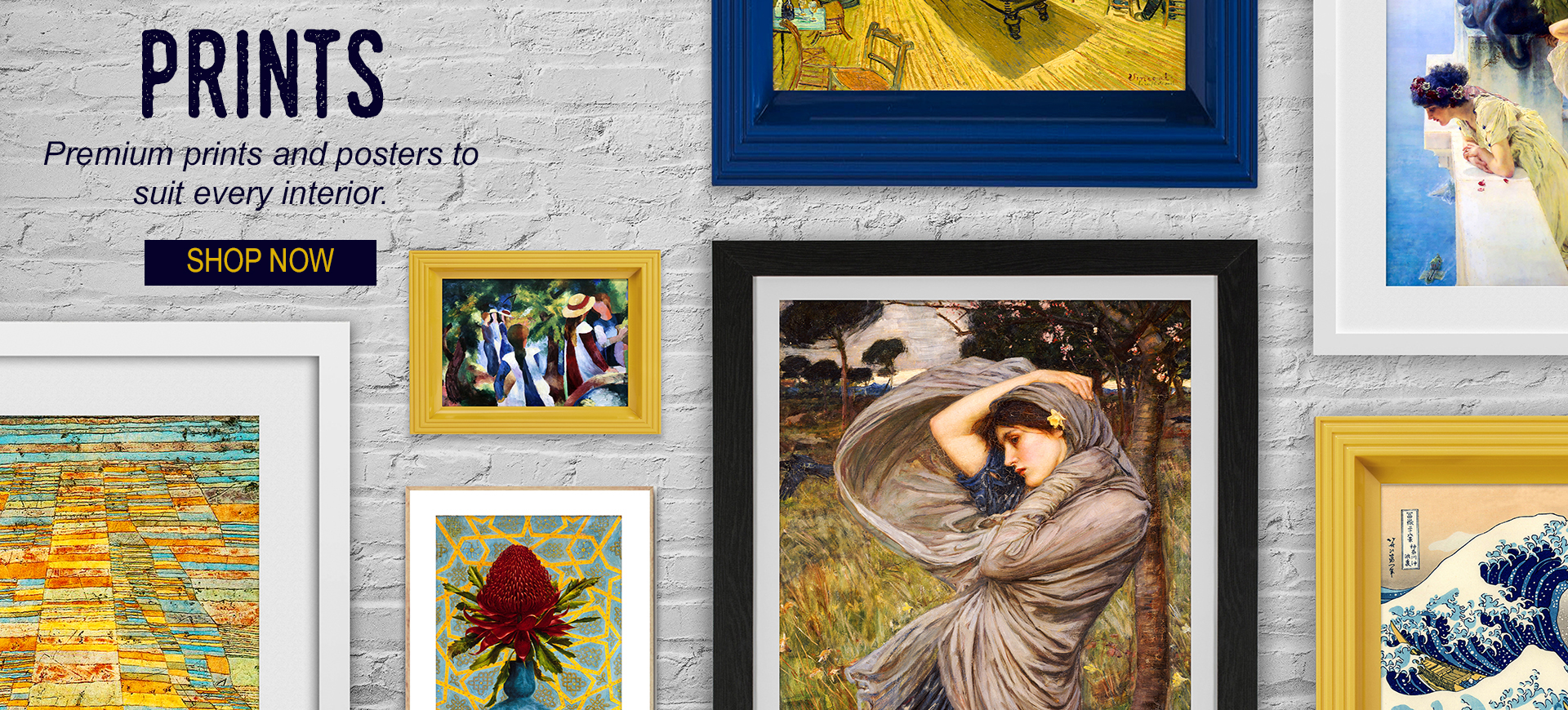 Huge range of affordable fine art prints and posters.